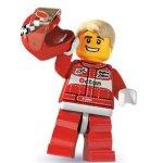 LEGO race car driver minifig